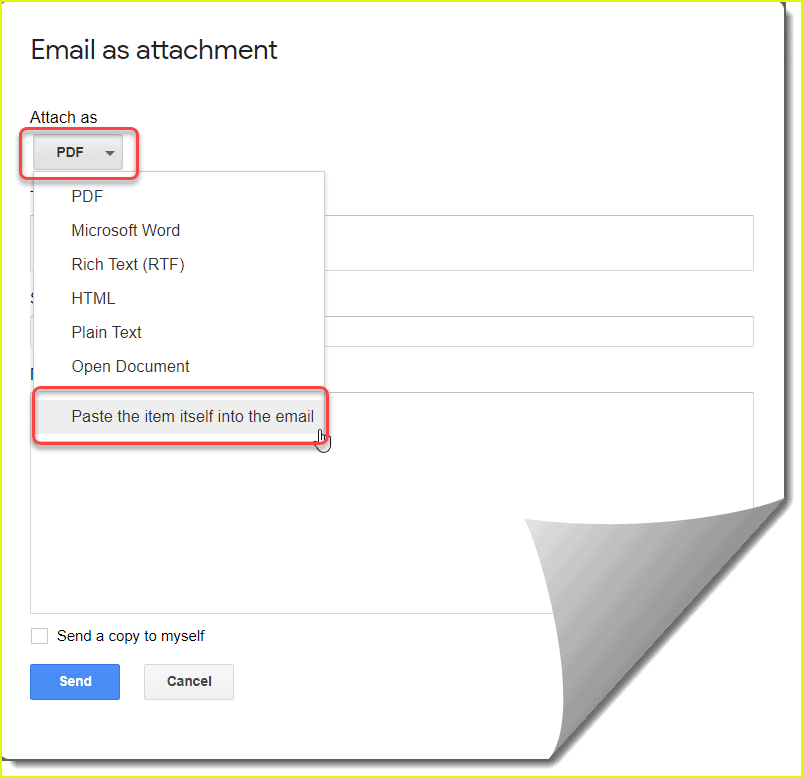 How to send Google doc as email body