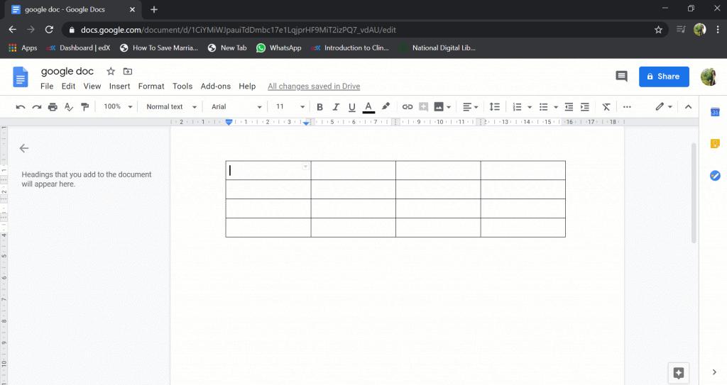 google docs alignment problem