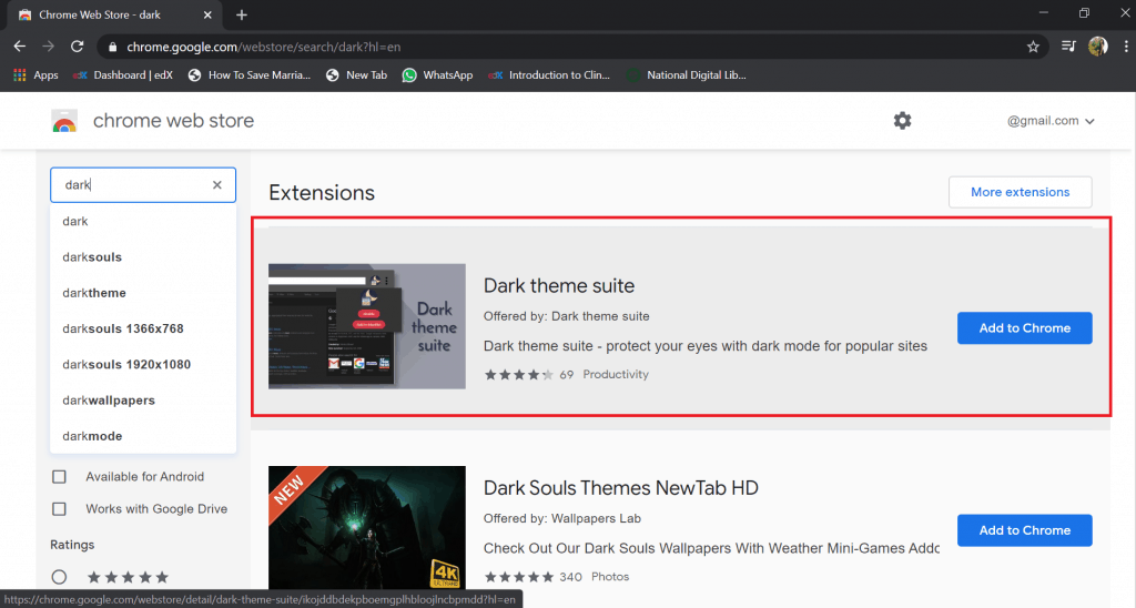 google docs night mode firefox