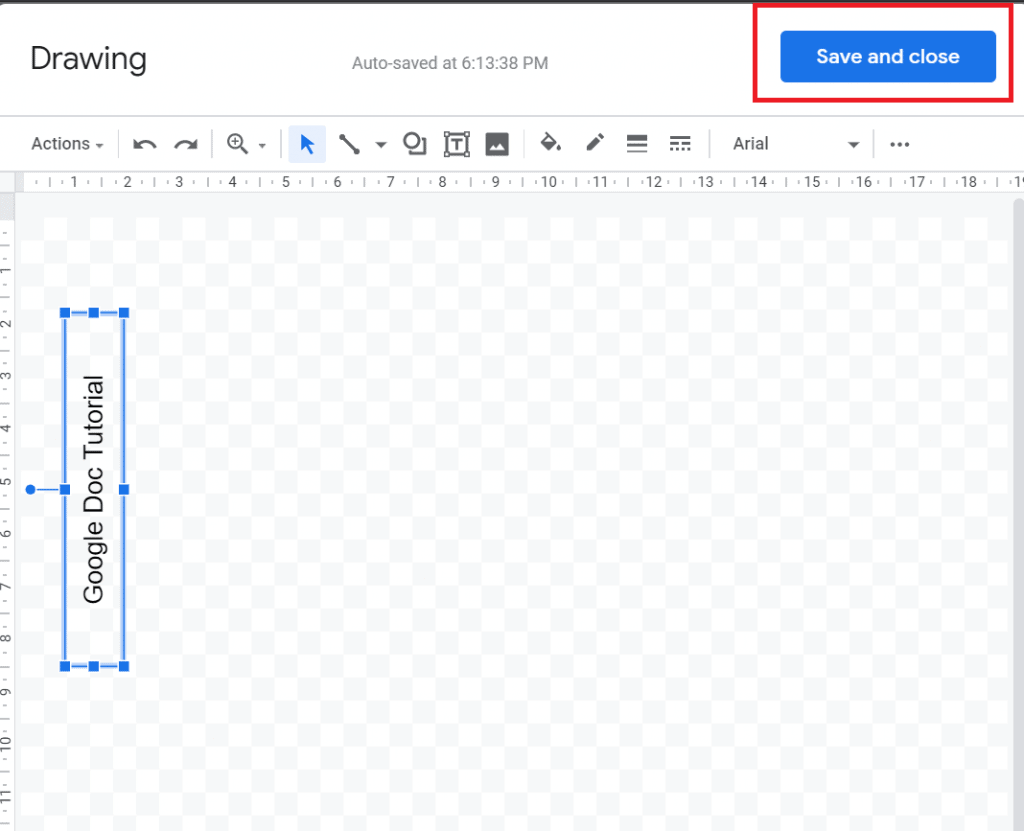 how to add vertical text in google docs