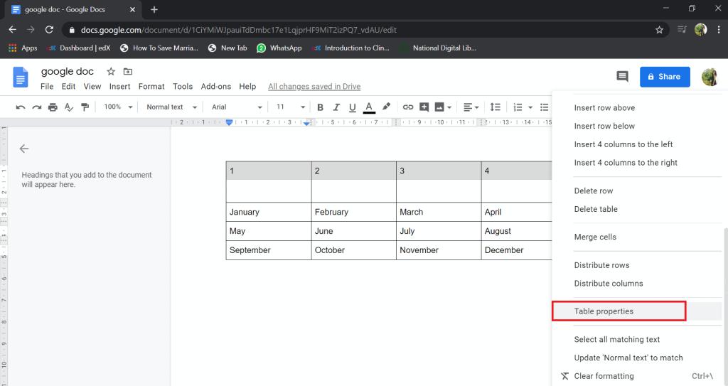 google docs table vertical alignment