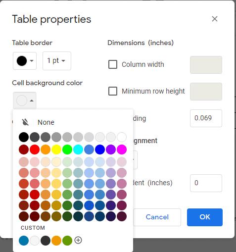 Google docs floating image