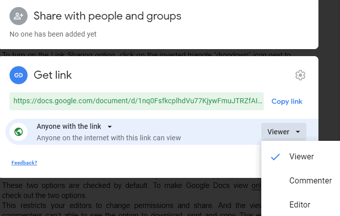 How to Share a Document in Google Docs