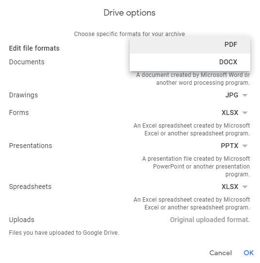 Google docs to pdf converter