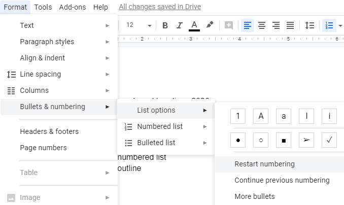 Shortcut for Google Docs Headings