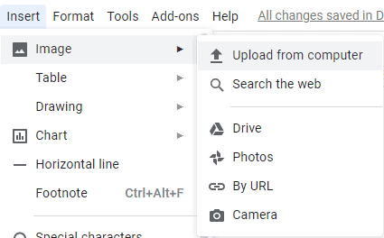 generate QR code in Google docs