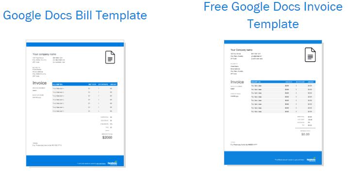 google docs invoice template simple