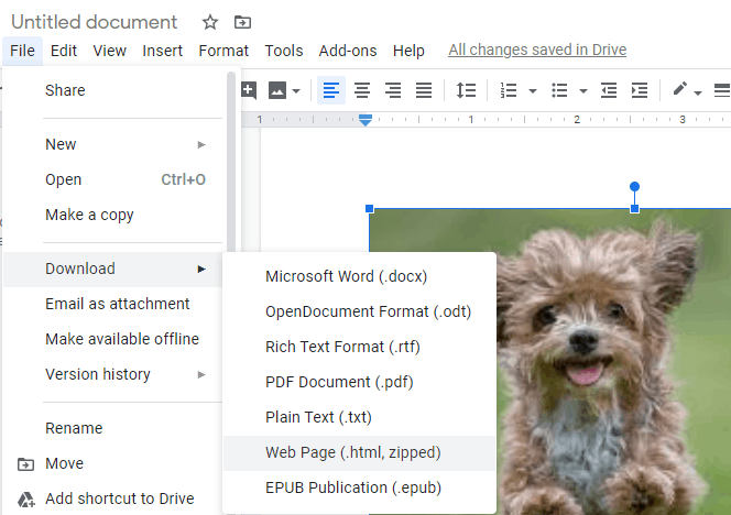 how to save an image from google docs to your computer