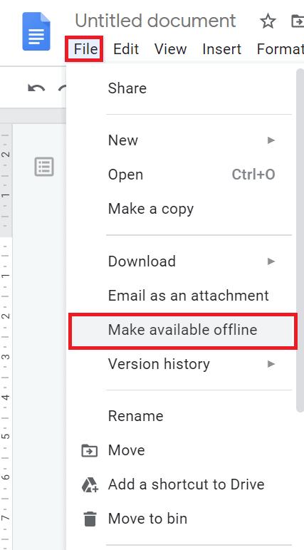 how to access google docs offline