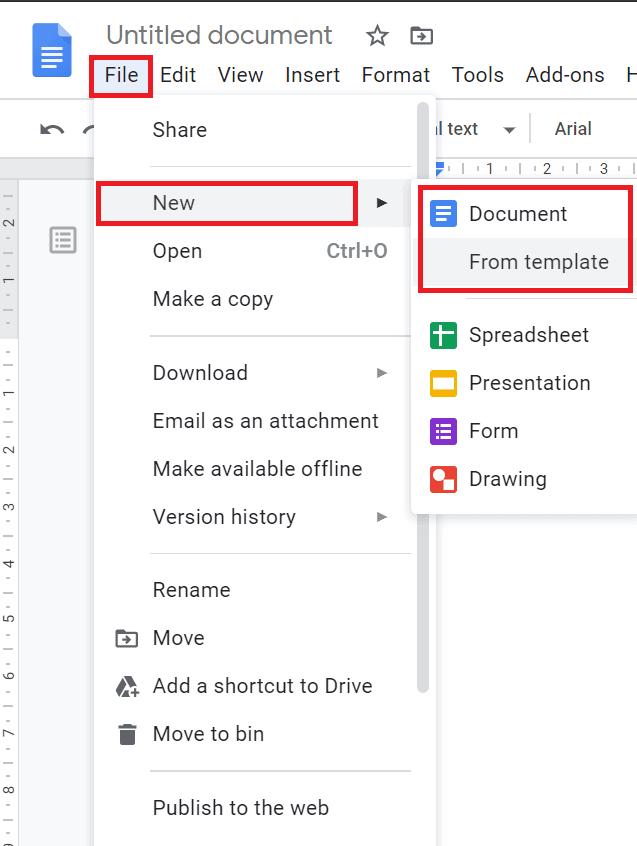 google docs newsletter templates free
