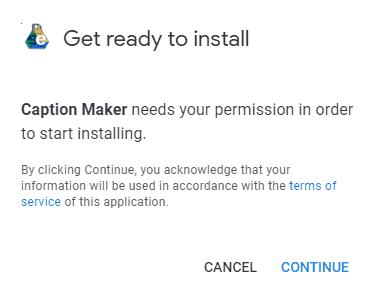 install Google Docs image caption maker addon