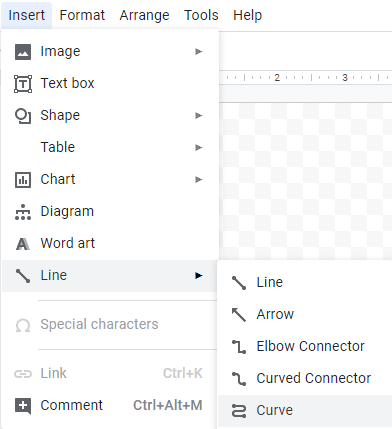 How do you bend text in google docs
