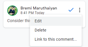 Resolve Comments in Google Docs