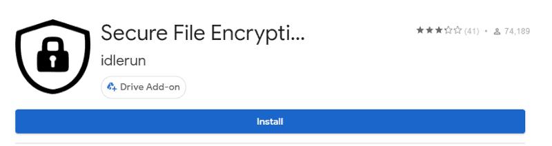 encrypt Google docs