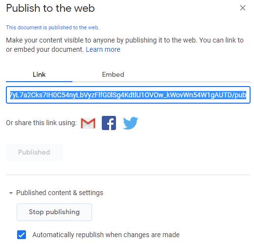 keep google docs private