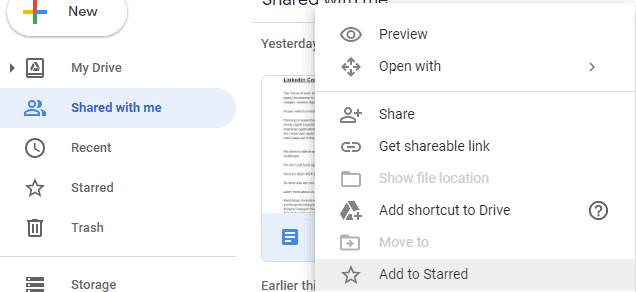 organize Google Drive Shared with me files