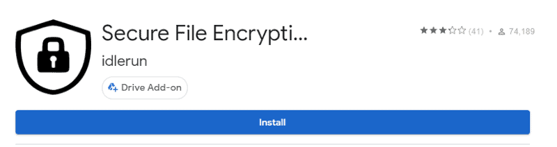 password protect Google Drive using encryption