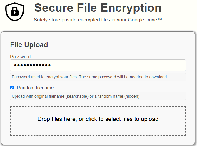 password protect google drive