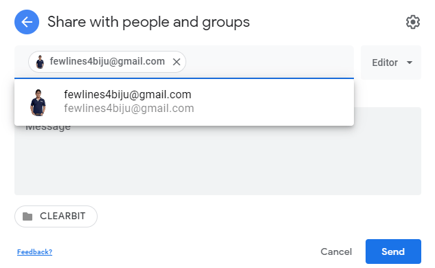 share Google Docs with others
