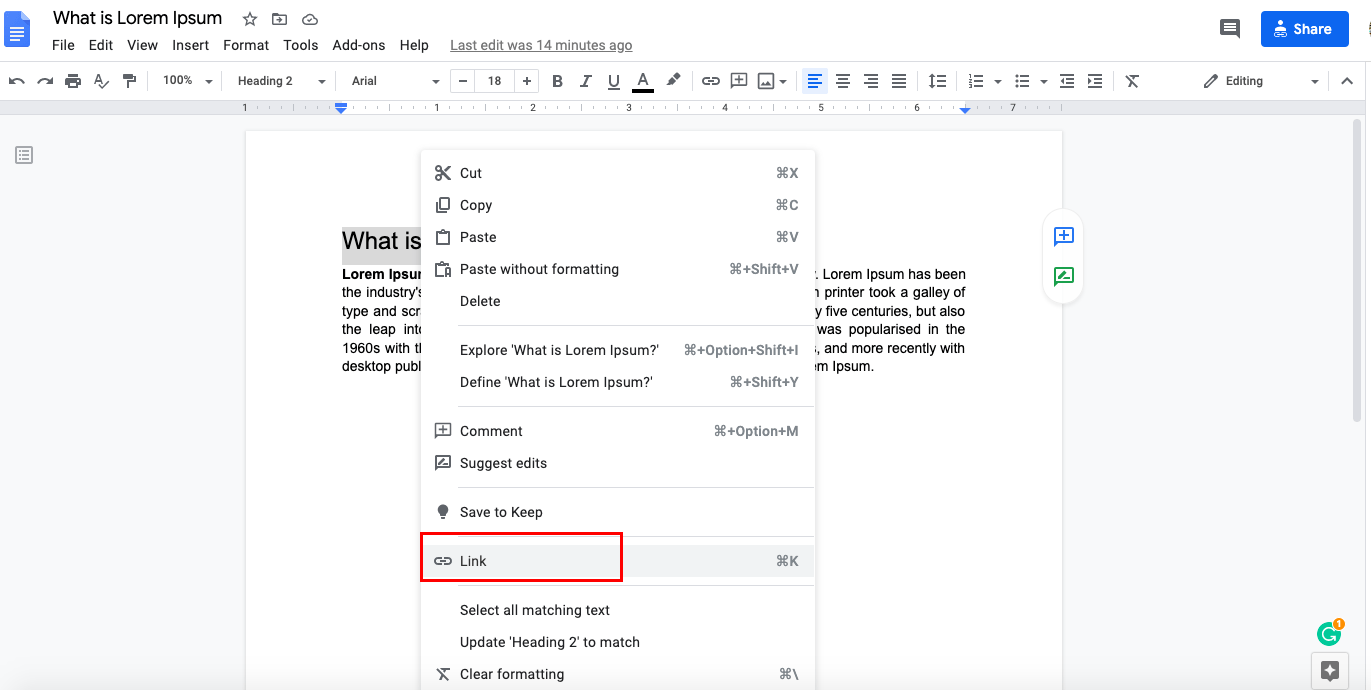 google docs link to another document
