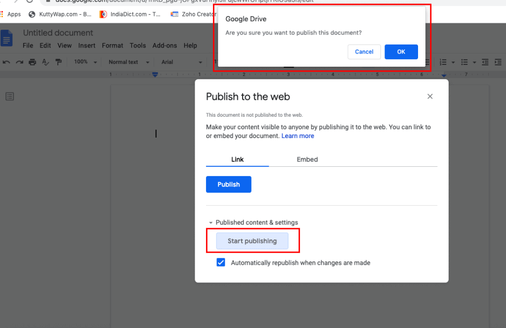 Google docs without Gmail