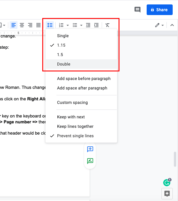 How to do mla format on google docs