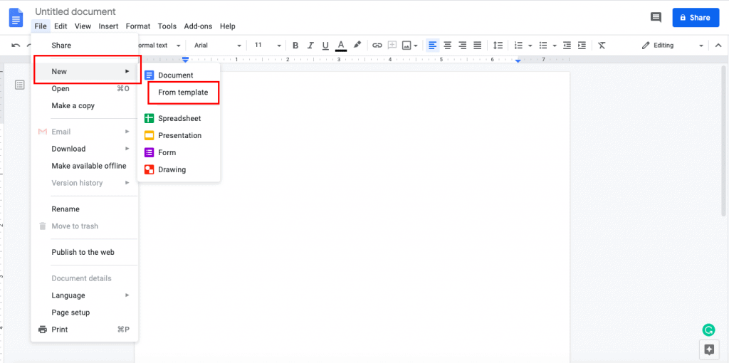 google docs MLA format