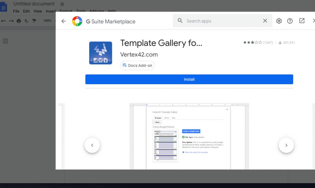 google docs calendar using templates