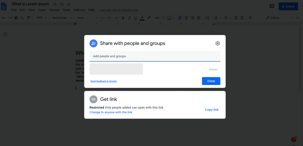 link to another document in google docs