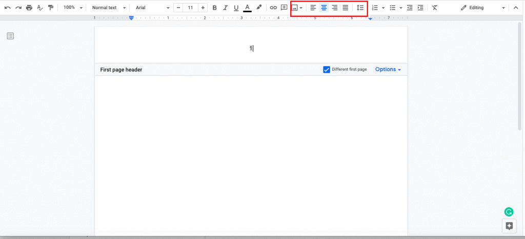 move page numbers to the center of your document