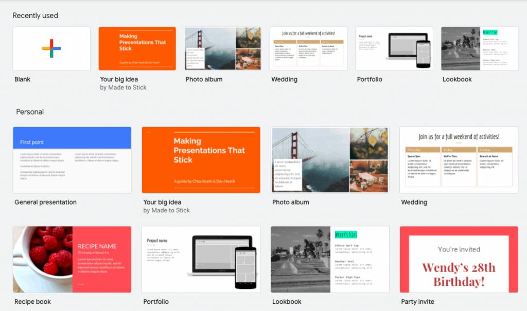 Open Google Slides