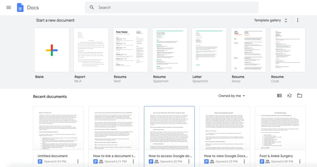 Where are my Google docs