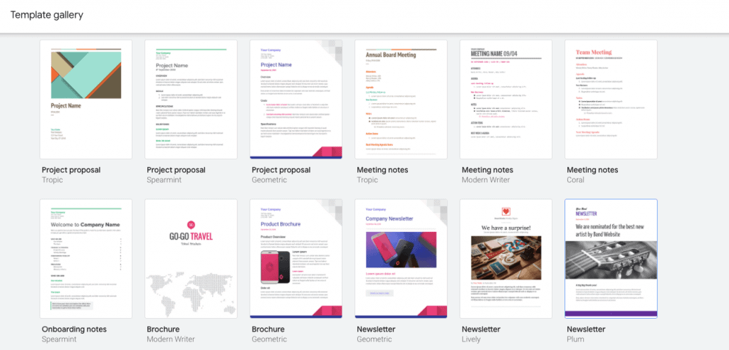 how to make a Brochure on Google Docs using Templates