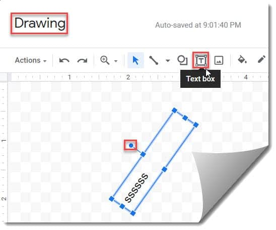 How to rotate a text on google docs