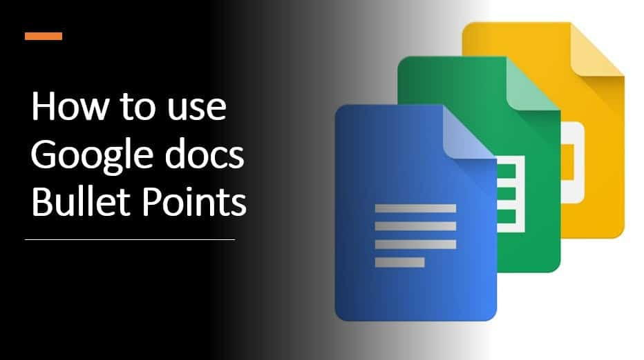How to use Google docs Bullet Points
