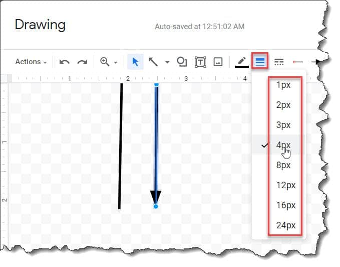Steps to insert vertical line in google docs