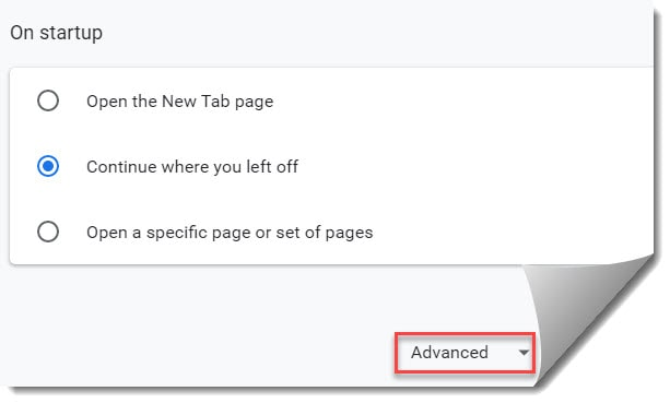 google drive shared with me option not showing