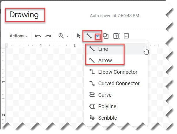 how to insert a line in google docs