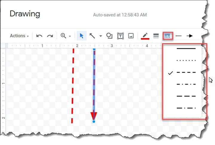 insert vertical lines in google docs