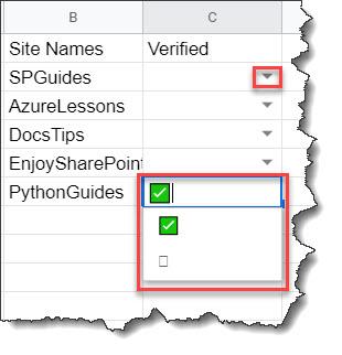 Create a Checklist in Google Sheets