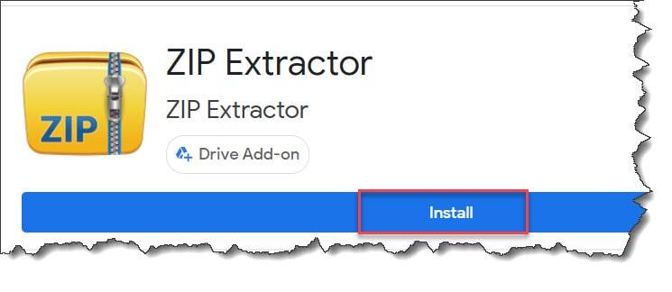 steps to install ZIP Extractor app