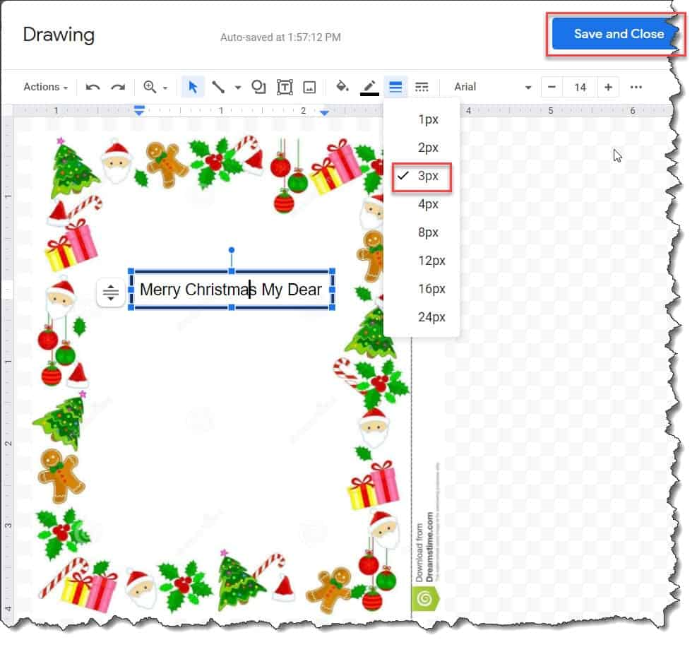 Christmas borders for google docs