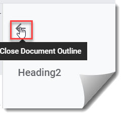 How To Close A Document Outline In Google Docs