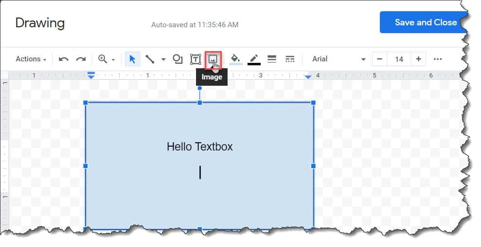How To Insert an Image Into a Text Box In Google Docs