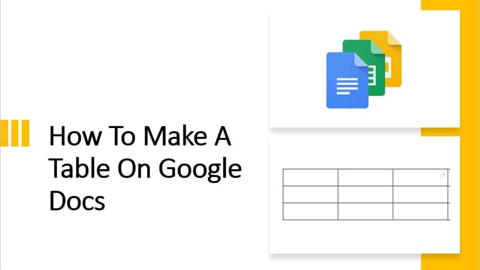 How To Make A Table On Google Docs