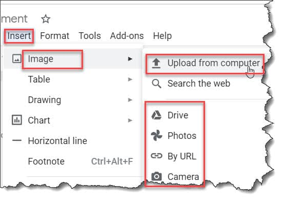 How To Upload Images To Google Docs
