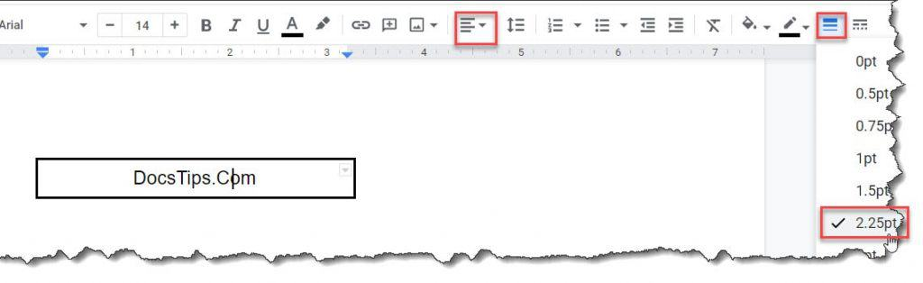 How to Add A Border Around Text In Google Docs Using Table Option