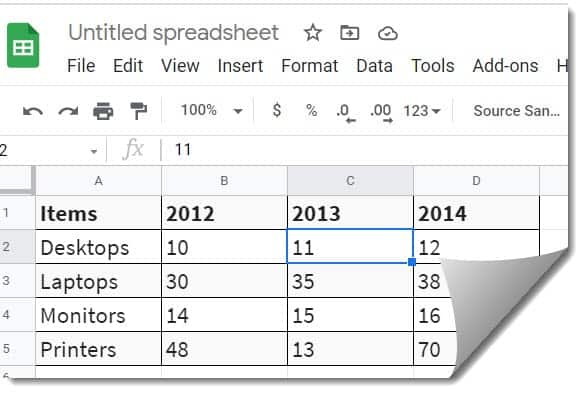 How to Build a chart on Google Docs