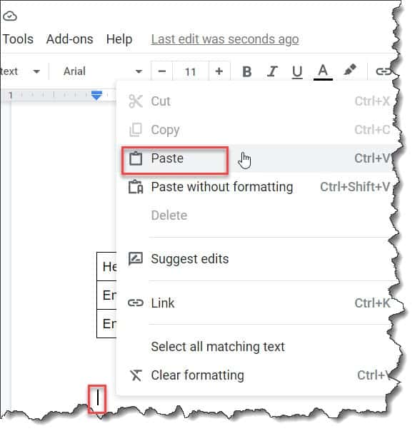 How to Copy And Paste A Table Google Docs
