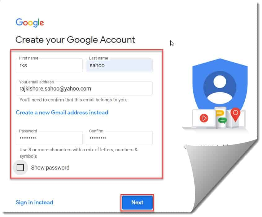 How to Create Google Account Without Gmail